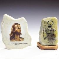 陶瓷印刷 石材工艺喷画 亚克力展示架加工硅胶印刷