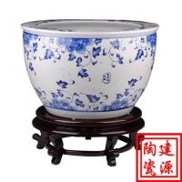 青花陶瓷大缸 景德镇陶瓷大缸