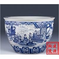 园林装饰陶瓷大缸 摆件陶瓷大缸