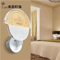 莱思灯饰灯具现代简约家居卧室床头装饰亚克力透明LED帆船图壁