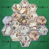 佛山瓷砖慕斯凯瓷砖炫丽花系列258x298mm六角砖餐厅地砖