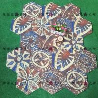 佛山瓷砖厂家供应全瓷艺术六角砖258x298mm阳台地砖客厅