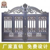 铝合金庭院门,铸铝庭院门头,铝艺门头花件,铝艺大门配件