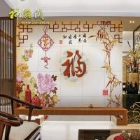 神雕侠瓷砖背景墙 客厅中式艺术电视墙瓷砖 仿古砖墙砖雕刻 家