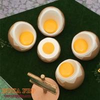 重庆儒雅户外玻璃钢鸡蛋造型家具组件一桌四凳