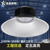 鳍片LED工矿灯100W200W厂房灯吊灯工厂车间照明超亮大