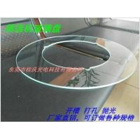 环形玻璃加工 开槽 抛光筛选机圆玻璃盘