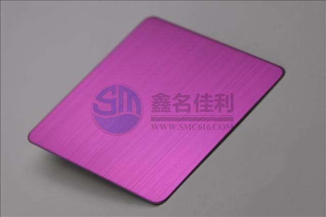不锈钢彩色板—拉丝宝粉红304不锈钢板