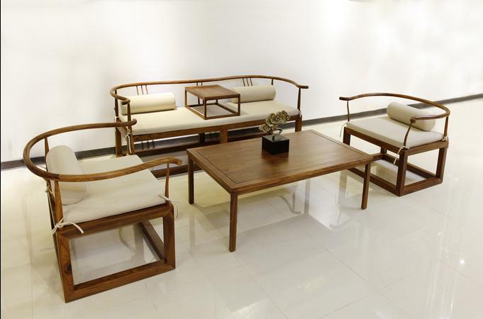 成都御尊思楠新中式实木沙发,客厅仿古红木家具,仿古沙发
