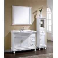 九牧王卫浴柜 欧式落地浴室柜 实木橡木柜洗手洗脸盆柜组合