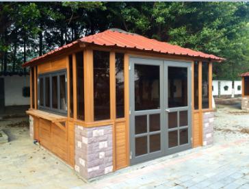 生态木公园小卖部木塑板房广场小卖场储物小房子