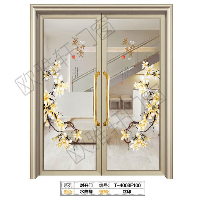 欧雅轩门窗-地弹簧大门-T-4003F100