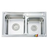 成都贵族卫浴--贵族厨房双槽不锈钢水槽