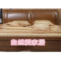 家具厂白橡木全实木高箱双人床