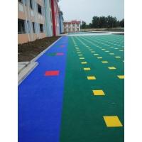 悬浮式拼装地板/圆柱软质大米格地板
