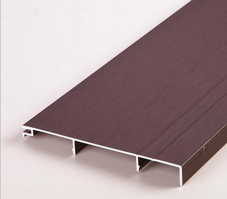 厂家直销铝合金踢脚线多规格多颜色 办公隔断隔墙工程