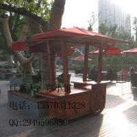 杭州实木售货车 户外移动小吃车 景区售票车