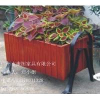 供应实木公园花箱  庭院实木花架 商业街摆设花槽