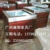 四川景观不锈钢花箱图片 不锈钢组合花箱 不锈钢花盆