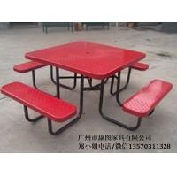 户外铁艺方桌椅景观休闲桌椅