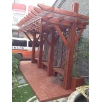 防腐木走廊,木廊架,木长廊制作