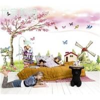 无缝壁画-粉色温馨儿童房-大型壁画