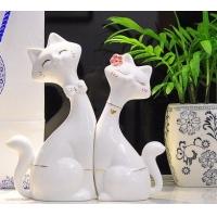 陶瓷猫家居饰品-尚居家饰