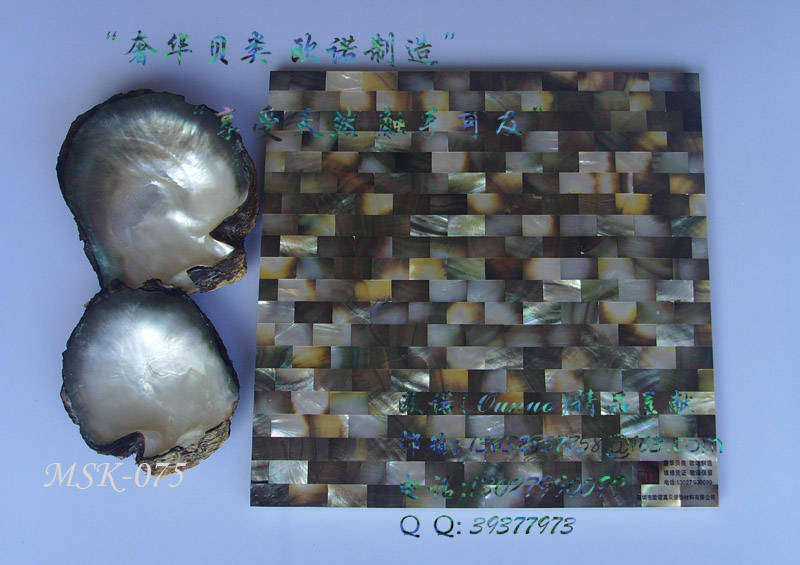 """""""ounuo""""珍珠贝壳马赛克/贝壳装饰板/贝壳面板"""