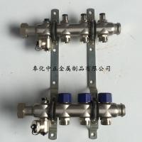 4路手动温控调节阀不锈钢家装分集水器,竹节管分水器图片
