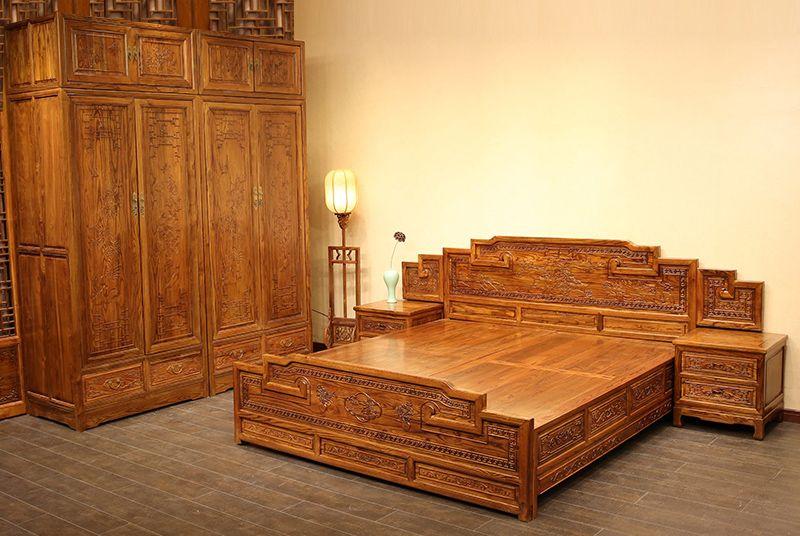仿古明清大床,红木大床