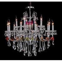 厂家批现货供应铁艺灯具 水晶蜡烛灯具 树脂灯具 布艺灯具