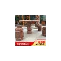 枫叶红G562花岗岩 红色大理石 圆桌 定制桌椅