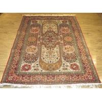 纯手工真丝地毯,土耳其结手工波斯地毯