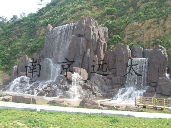 常州燕山公园人造假山完工