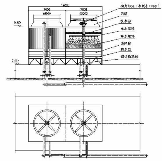 冷却塔水泵扬程_在不改变水泵扬程的前提下,利用水泵的富余水头可完全满足冷却塔的