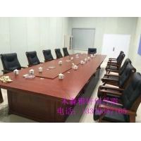 天津会议桌钢架洽谈桌培训桌台条形大小板式会议桌