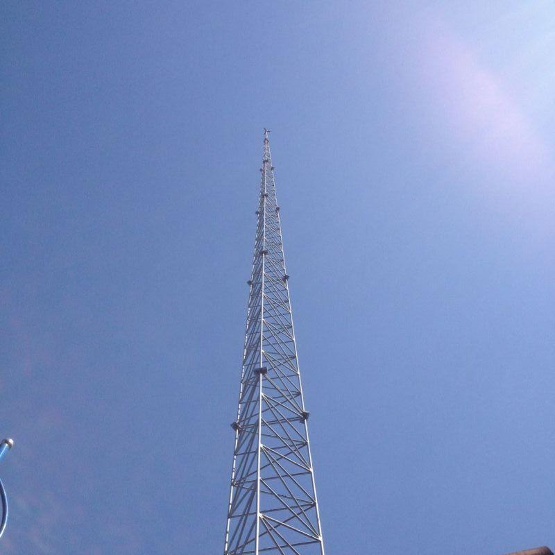 30米高度三角形gfl钢结构避雷针塔