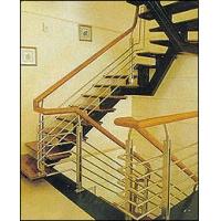 不锈钢玻璃楼梯  拉丝楼梯