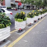 隔离栏隔离带组合花箱 pvc花箱