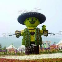 节日立体绿化绿雕 立体造型 广场造景