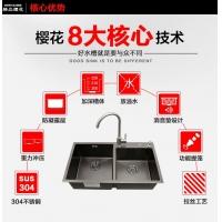 厨房不锈钢水槽纳米抗菌不锈钢水槽黑色水槽厨房洗菜盆