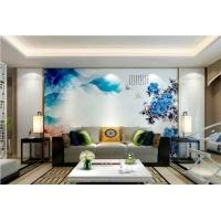 中式电视背景墙瓷砖墙砖简约现代客厅壁画微晶石 金玉兰香