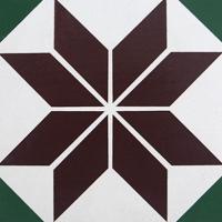 几何抽象图案毕加索风格小花砖200