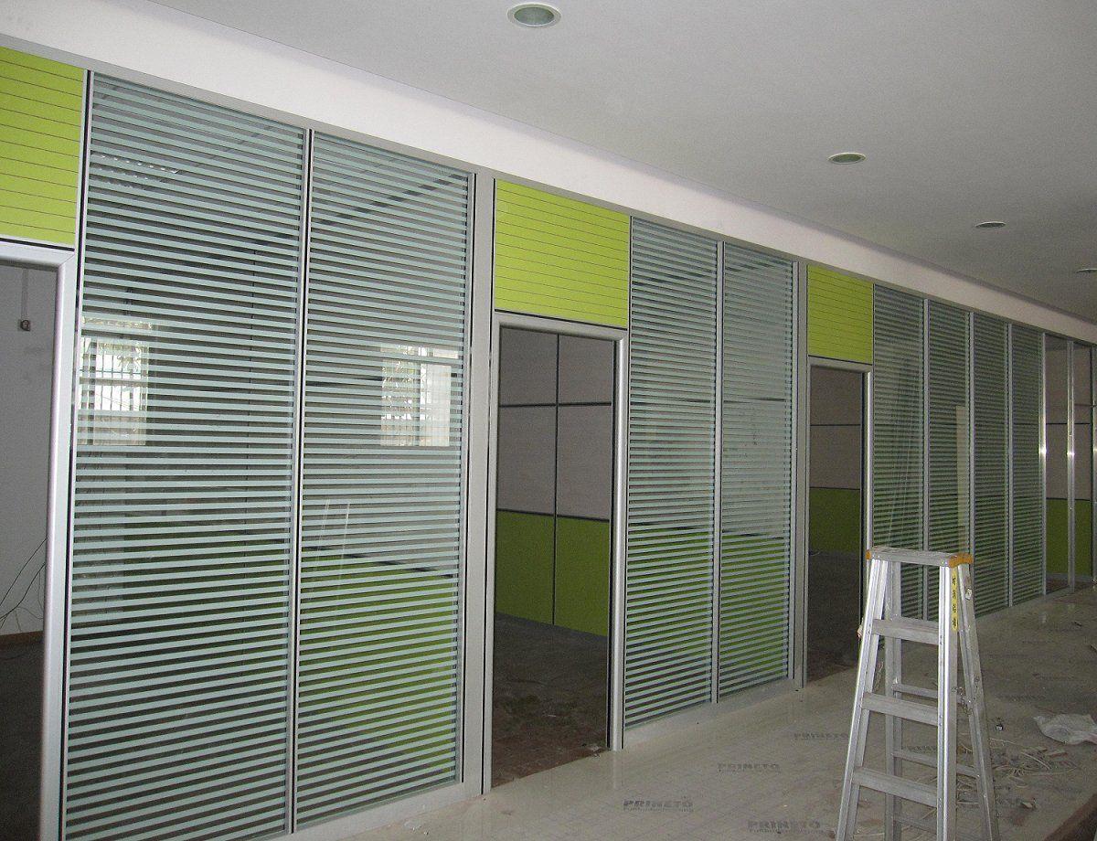 定制办公室隔断玻璃隔断单层磨砂玻璃隔断墙铝型材批发