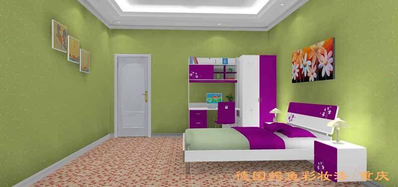 3d彩妆漆效果图(儿童房)