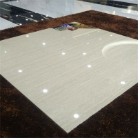 建筑工程瓷砖800*800灰色颗粒木纹抛光砖波化砖