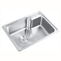 恒通卫浴-厨房五金类-201高边拉丝面不锈钢水槽