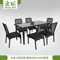 客厅餐桌 阳台桌椅佛山客厅家具 餐厅藤椅家具