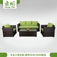户外沙发、休闲户外沙发、绿色花园海滩沙发