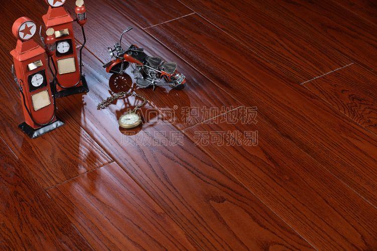 积加纯实木地板美国红橡